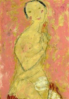 L'OISEAU, oil on canvas,65x45cm, 2008 © Svetlana Kurmaz Oil On Canvas, Canvas Prints, Limited Edition Prints, Folk Art, Museum, Portrait, Artist, Image, Paintings