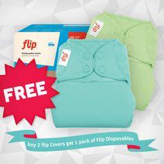 Flip: Buy 2 Flip Covers get Flip Disposables FREE - Specials! - Cotton Babies Cloth Diaper Store