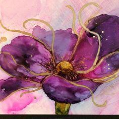 Purple is fun! Alcohol Ink Painting, Keys, Original Art, Watercolor, Purple, Artist, Fun, Instagram, Design