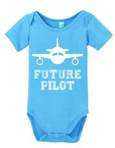 Future Pilot Onesie Funny Bodysuit Baby Romper