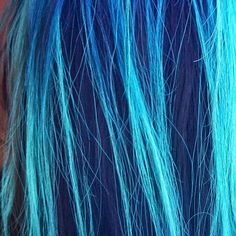 blue green hair  kenra neon  blacklight hair
