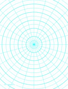 This letter-sized polar graph paper has 15-degree angles and half-inch radials plus heavy index lines. Free to download and print