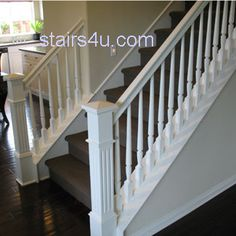White Stairs  Railing And Banister