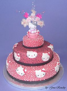 Hello Kitty Pink Cake by *ginas-cakes on deviantART