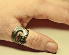 Game of Thrones Dragon Ring  Steampunk Dragon by ProfessorSprocket, €10.00
