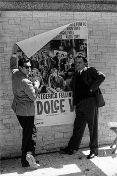 Federico Fellini, Marcello Mastroianni e La dolce vita - 1960