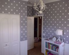 Polka Dot... Cute for baby or teenage room. Would never get old
