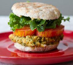 Lemon Herb Veggie Burger Sliders