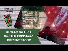 Easy Dollar Tree DIY Lighted Christmas Present Decor Light Up Christmas Presents, Light Up Presents, Diy Christmas Lights, Dollar Tree Christmas, Decorating With Christmas Lights, Christmas Diy, Outdoor Lighted Christmas Decorations, Christmas Favors, Christmas Things