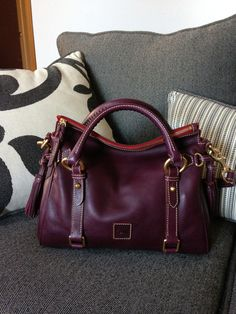 Dooney and Bourke Florentine Satchel in Plum