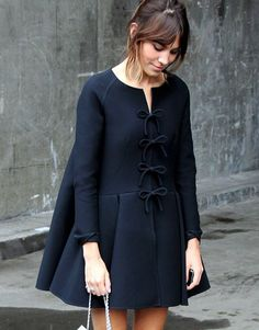 Alexa Chung in an adorable coat