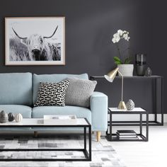 Contemporary design meets on trend living with our Brody sofa and Beacon coffee, side and console Oz Design Furniture, Living Furniture, Interior Design, Small Furniture, Blue Couch Living Room, Living Room Decor, Home Room Design, Living Room Designs, Light Blue Couches
