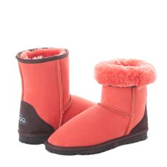 Red Clay Short UGG Boots  #short #uggboots #australianmade #ugg #uggs #sheepskin #red #earth