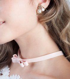 Triangle Gem Clip Earrings  #triangle #gem #pink #motherofpearl #earrings #statementearrings #cuteearrings #fashionearrings #cutejewelry #statementjewelry #fashionjewelry #cuteaccessories
