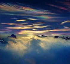 Mother-of-pearl-clouds from helicopter. Antarctica Per-Andre Hoffman. (i found this by googling mother-of-pearl-clouds, but it won't let you pin from there.)