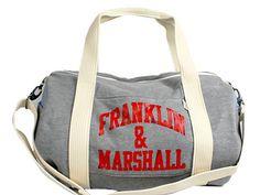 Franklin Marshall, Denim Blazer, Gym Bag, Grey, Bags, Fashion, Gray, Handbags, Moda
