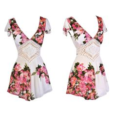 We love the pink and ivory print on this romper!  http://ss1.us/a/9Mf4HQ52