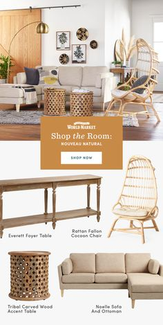 We've created indoor and outdoor spaces in styles ranging from ultra-modern to boho eclectic. Love the look? Shop everything in the room! Amazon Home Decor, Affordable Home Decor, Unique Living Room Furniture, Furniture Decor, Dining Room Inspiration, Home Decor Inspiration, French Home Decor, Home Decor Styles, Family Room