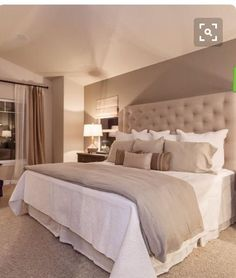 Beautiful neutral bedroom decor to copy.