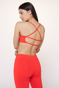 Get strappy. Support in the front, seductive in the back. Our Corset Grid Bra is thoughtfully designed for low impact activity and maximum lounge appeal. Our fabric has four-way stretch with a super soft, sweat-wicking and natural feel; 90% Supplex and 10% Lycra. Super easy care, machine wash cold. Complete the look with our Theda Short. Second Skin, Bra Sizes, It's Easy, Super Easy, Corset, Grid, Crop Tops, Suits, Belly Button