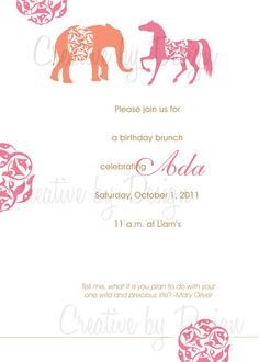 Indian Pattern Inspired Invitation