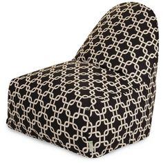 Links Bean Bag Chair Color: Black - http://delanico.com/bean-bag-chairs/links-bean-bag-chair-color-black-588887327/