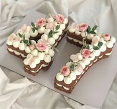 Meanwhile, increase the risk for topping by combining each of the ingredients inside a saucepan and Number Birthday Cakes, 17 Birthday Cake, Number Cakes, Birthday Cake Decorating, Cute Cakes, Yummy Cakes, Cake Cookies, Cookies Et Biscuits, Mom Cake