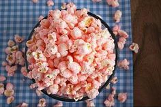 Pink popcorn!  How awesome!  I could make a rainbow of popcorn colors!