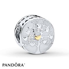 PANDORA Charm Tree of Hearts Sterling Silver/14K Yellow Gold