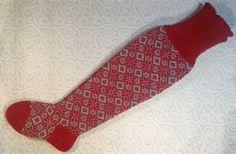 NEW Wool hand-made extra long socks thigh high socks by LanaNere Thigh High Socks, Thigh Highs, Red And Grey, Long Legs, Snug Fit, Leg Warmers, Wool, Handmade, Etsy