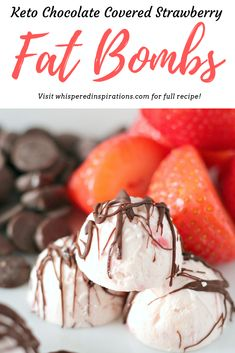 It's hard trying to stay in ketosis when you want to eat something sweet. That's why these keto chocolate covered strawberry fat bombs hit the spot! #ketorecipes #ketofatbombs #fatbombs