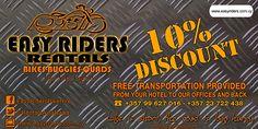 10% Discount at Easy Riders Rentals, Ayia Napa, Protaras, Cyprus