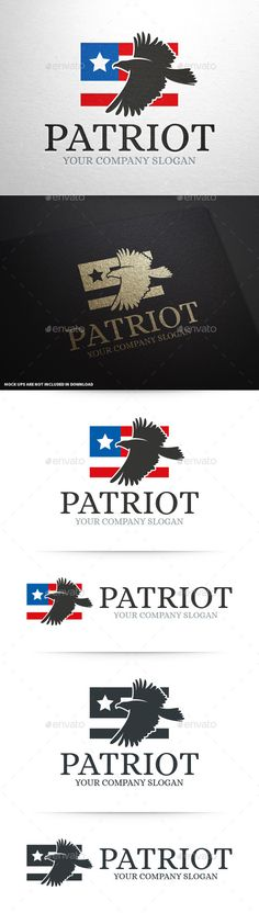 Patriot  American Eagle Logo — Vector EPS #american #flag • Available here → graphicriver.net/...