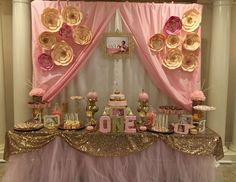 "Pink & gold  / Birthday ""Pink & Gold 1st Birthday"" 