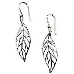 Van Peterson 925 - Sterling silver forest leaf earrings