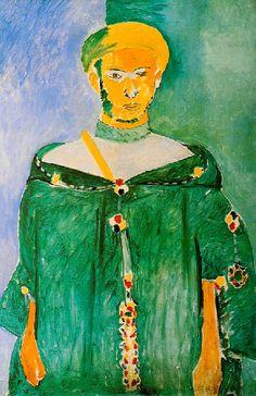 Matisse - 1912 – LE RIFAIN DEBOUT (Matisse veut exprimer le sentiment d'autorité…