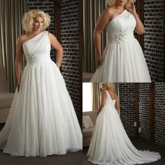 Discount Sexy One-Shoulder Ivory Plus Size Wedding Dresses Beach Vintage Bridal . Discount Sexy One-Shoulder Ivory Plus Size Wedding Dresses Beach Vintage Bridal Gown with Backless 2015 A-Line Pleated C. Wedding Dress With Veil, Wedding Attire, One Shoulder Wedding Dress, Modest Wedding, Elegant Wedding, Beach Dresses, Bridal Dresses, Prom Dresses, White Plus Size Dresses