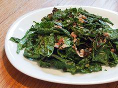 Grilled Kale Salad With Warm Bacon Vinaigrette