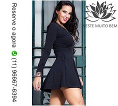 🎯 Vestido de Crepe Godê com Zíper e Bolso Manga Longa PMGGG R$ 98,00 🔥 Reserve agora pelo whatsapp (11)96667-6394  http://www.modaemroupafeminina.com.br/2017/05/vestido-de-crepe-gode-com-ziper-e-bolso.html