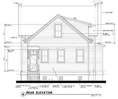 Rear Elevation of Historic   Southern   House Plan 73733