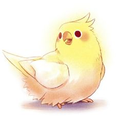 smiley bird
