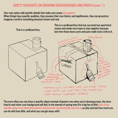 "Eric Hibbeler on Twitter: ""I wrote down some thoughts about drawing props and backgrounds. I guess it's #ArtTutorial… """