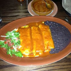 adobo grill : veggie enchiladas.