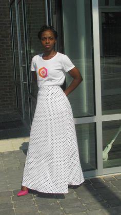 O.C. Long A-Line Skirt   $90