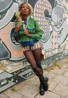 BOHO Green & Blue Psychedelic 60's Wrap Blouse - Lovethebaroness vintage Boho Green, South London, Fashion Videos, Wrap Blouse, Psychedelic, Vintage Outfits, Amp, Blue, Clothes