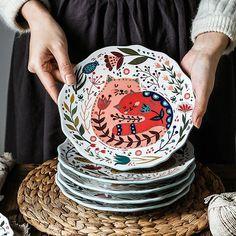 Painted Ceramic Plates, Ceramic Painting, Ceramic Pottery, Ceramic Art, Ceramic Tableware, Dinner Dishes, Dinner Plates, Dinner Table, Cerámica Ideas
