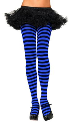 Black and Blue Striped tights