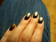 #black #gold #ombre #Andrea Rot