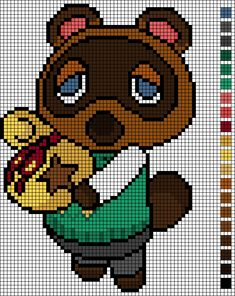 Cross Stitch pattern Tom Nook/ Animal Crossing by EmelieOzwin on DeviantArt