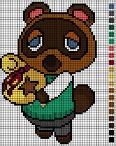 Cross Stitch pattern Tom Nook/ Animal Crossing by EmelieOzwin on DeviantArt